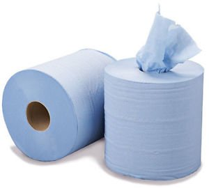 2 Ply 150m Blue Centrefeed Rolls – Case Of 6