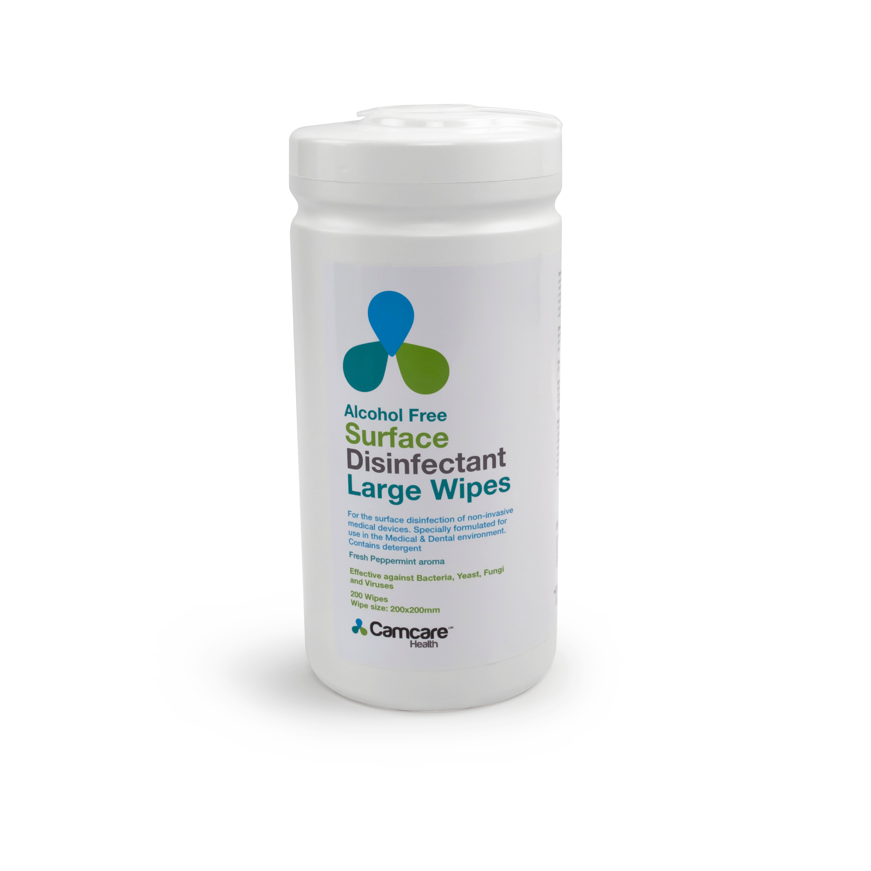 Alcohol Free Surface Disinfectant Wipes Tub of 200 Wipes